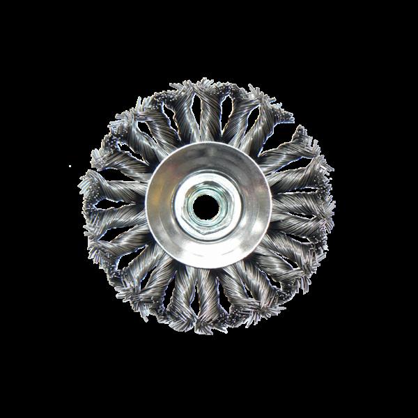Kegelbürste gezopft - Ø 115mm, Draht 0,5 mm