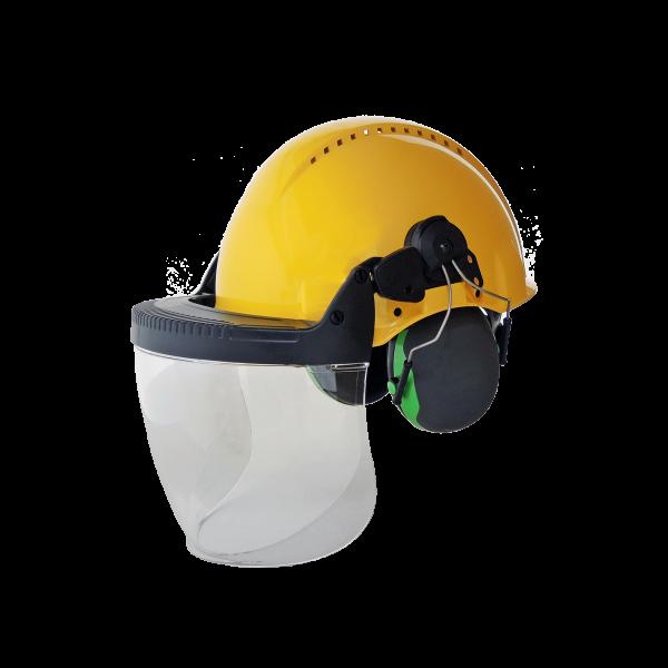 Gesichtsschutz & Gehörschutz mit Helm