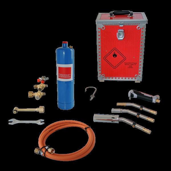 Flüssiggasbrenner kpl. inkl. Holzkoffer