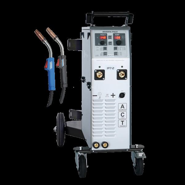 Schweißgerät InvertaPuls IP7-2 ACT 400V mit Stahl-/ Löt Kit
